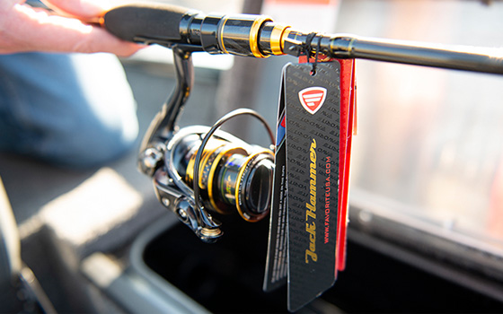 Favorite reels provided great prizes including this tournament-ready Jack Hammer rod and spinning reel.